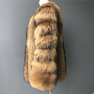 """Elodie"" Coon Fur Coat"