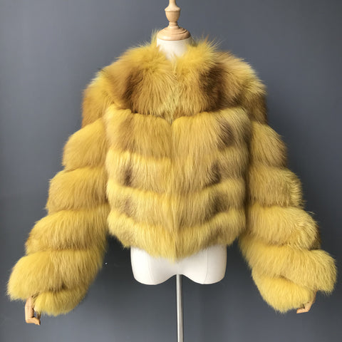 """Banana Oceanne"" Fox Fur Jacket"