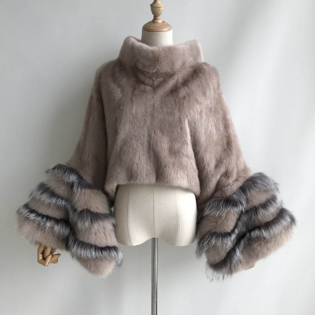 """Belle"" Mink Fox Fur Sweater"