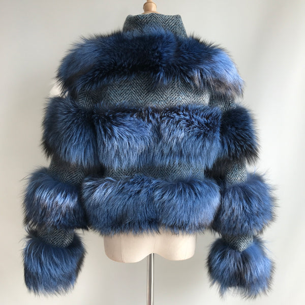 """Blue Virgine"" Fox Fur Jacket"