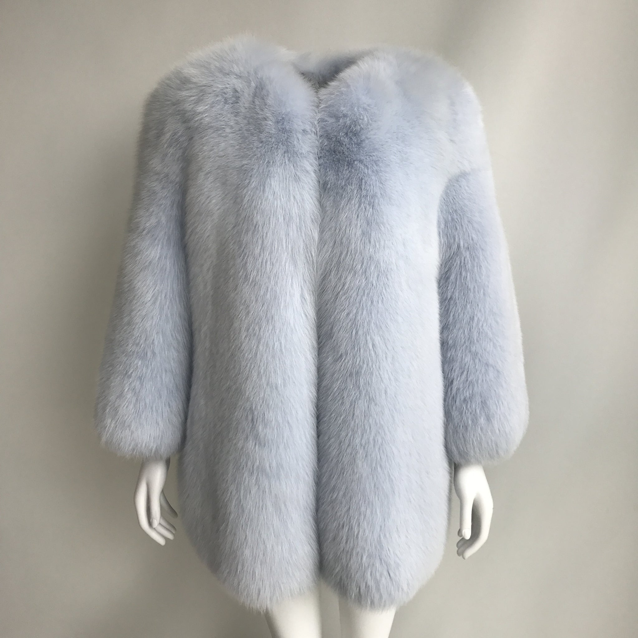"""Light Blue Gaelle"" Fox Fur Coat"