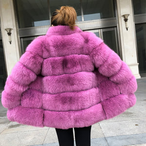 """Raspberry Lisa"" Coat"