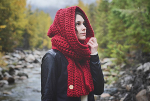 Crochet Pattern: Oversized Hooded Scarf