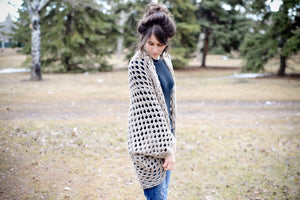 Crochet Pattern: Granny Square Cocoon Sweater