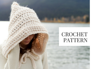 Crochet Pattern: Hood Hat with Ties