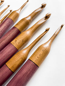 Light Roasted Maple + Purpleheart Crochet Hook