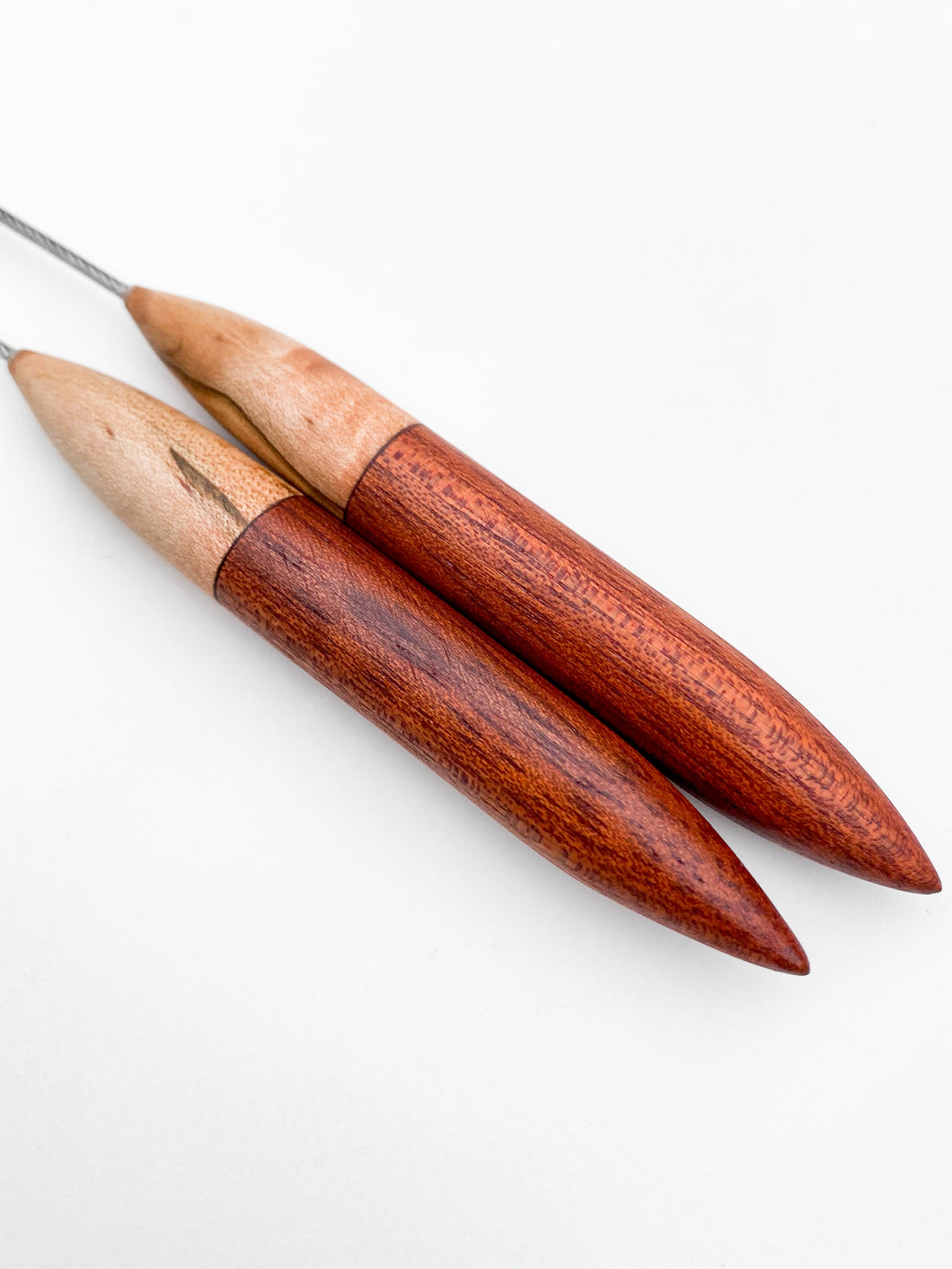 Knitting Needle PREORDER: Ambrosia Maple + Bloodwood