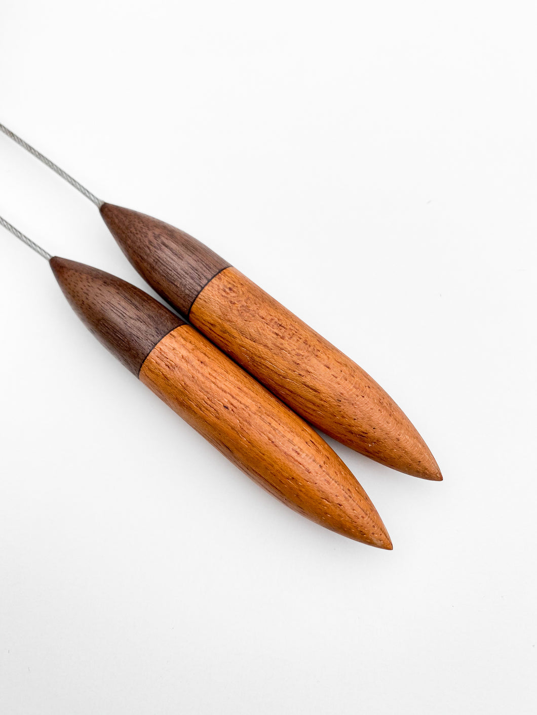 Knitting Needle PREORDER: Black Walnut + Jatoba