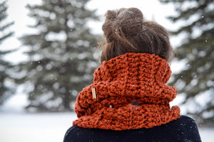 Crochet Pattern: Ribbed Slouchy Cowl