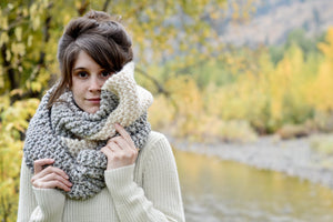 Knit Pattern: Oversized Tapered Scarf