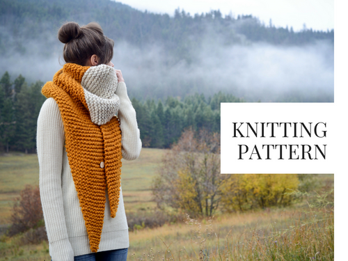 61a8c319a7538d Knit Pattern  Oversized Tapered Scarf