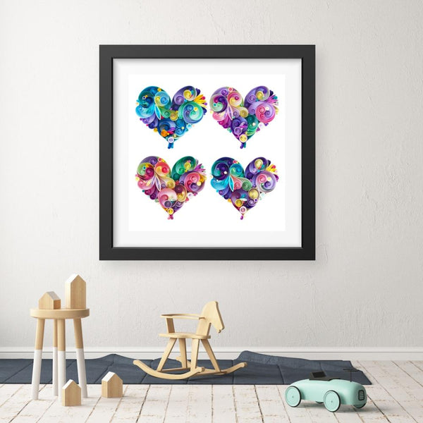 4 Hearts - Limited Edition Print