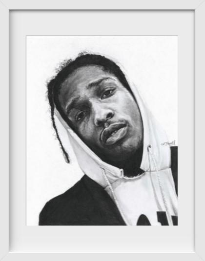 A$AP Rocky - 14x16 / White Frame / Buy - Limited Edition Print