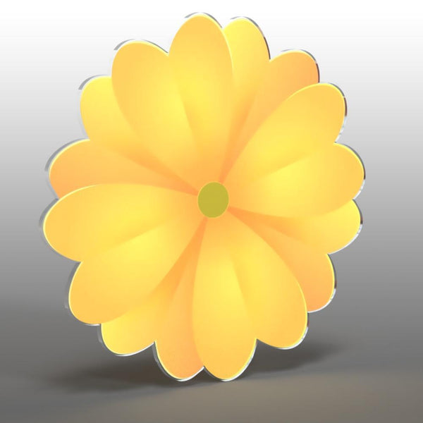 Acrylic Hanging Sunflower - 12 inch - Acrylic Mountable Shapes