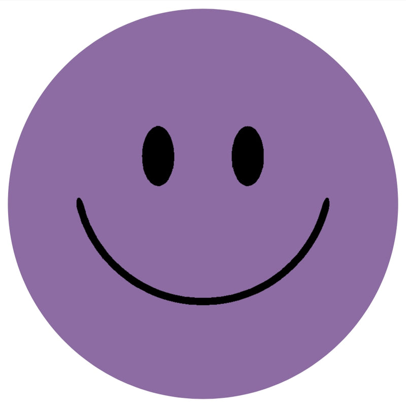 Acrylic Mountable Smilies Our Solid Colors - 7 inch / Amethyst Orchid - Acrylic Mountable Shapes