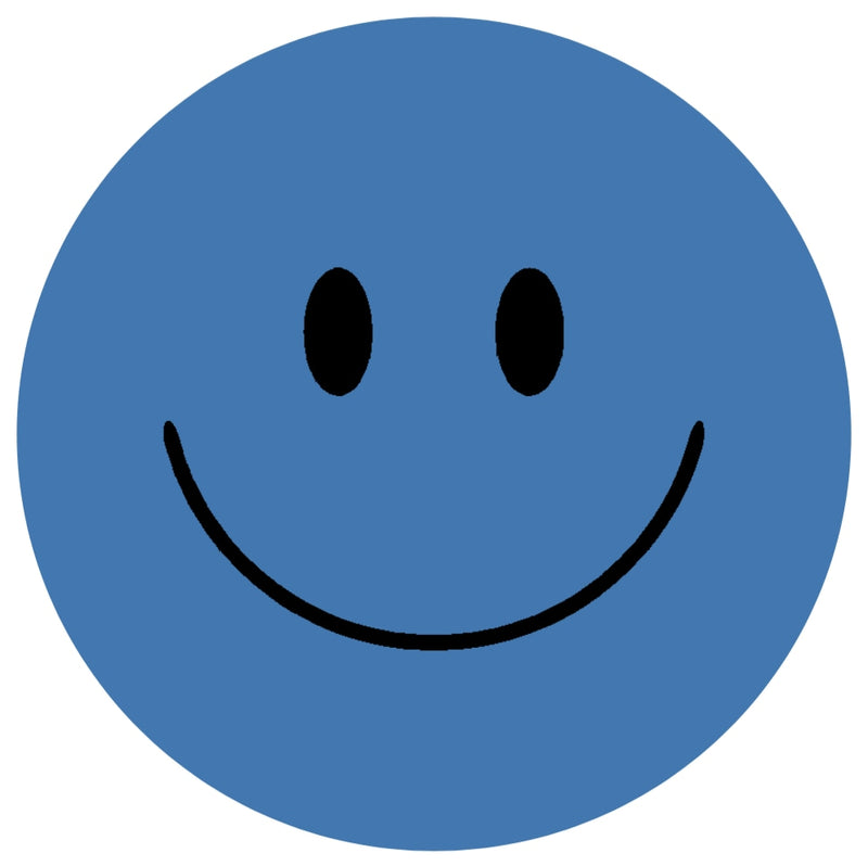 Acrylic Mountable Smilies Our Solid Colors - 7 inch / French Blue - Acrylic Mountable Shapes