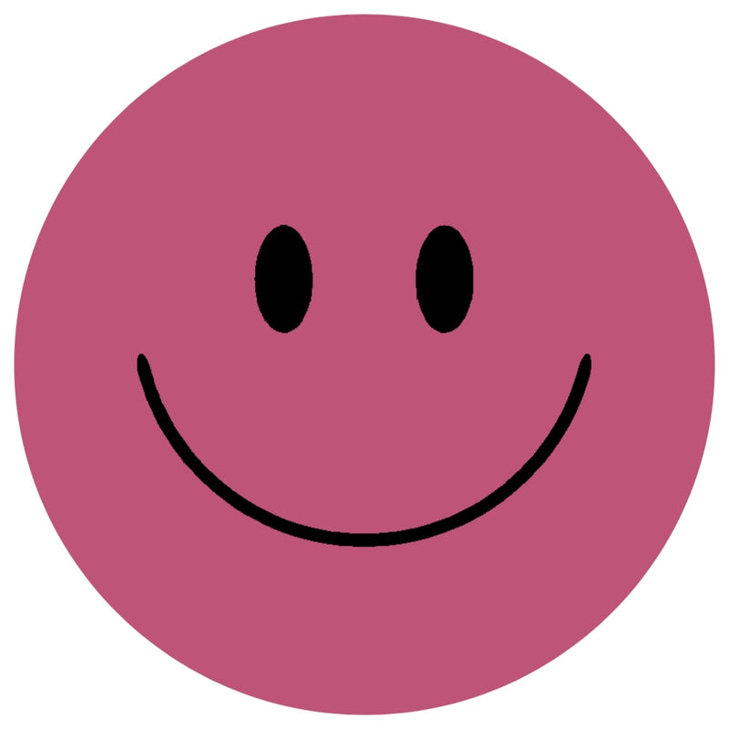 Acrylic Mountable Smilies Our Solid Colors - 7 inch / Raspberry Sorbet - Acrylic Mountable Shapes
