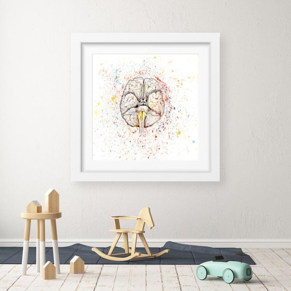 Anatomical Brain Splatter - Limited Edition Print