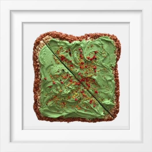 Avocado Toast - 14x14 / White Frame / Buy - Limited Edition Print