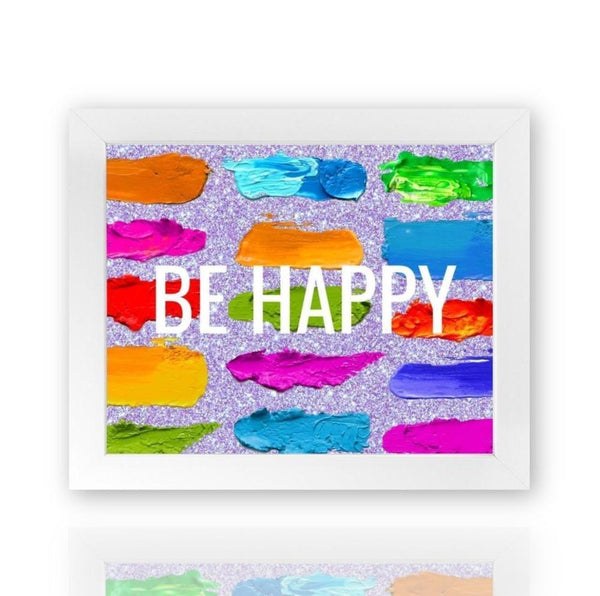 Be Happy - Framed Print