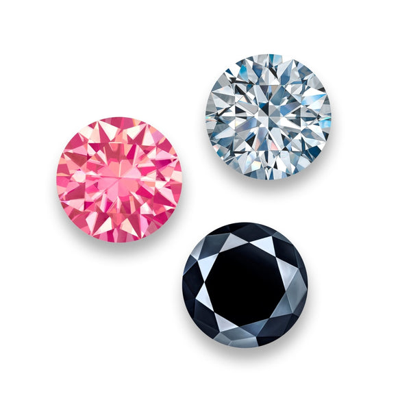 Black White & Pink Diamonds - 10 inch (set of 3)