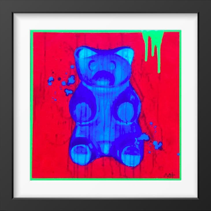 Bluebeary - 14x14 / Black Frame / Buy - Limited Edition Print