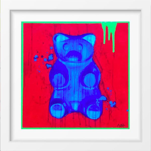 Bluebeary - 14x14 / White Frame / Buy - Limited Edition Print
