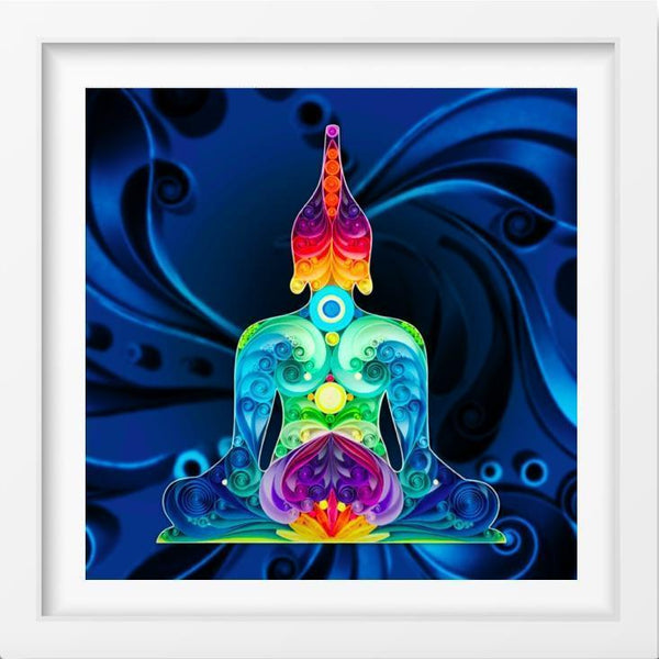Buddha - 14x14 / White Frame / Buy - Limited Edition Print