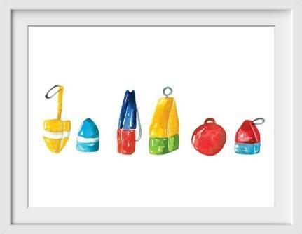 Buoys - 22x26 / White Frame / Buy - Original