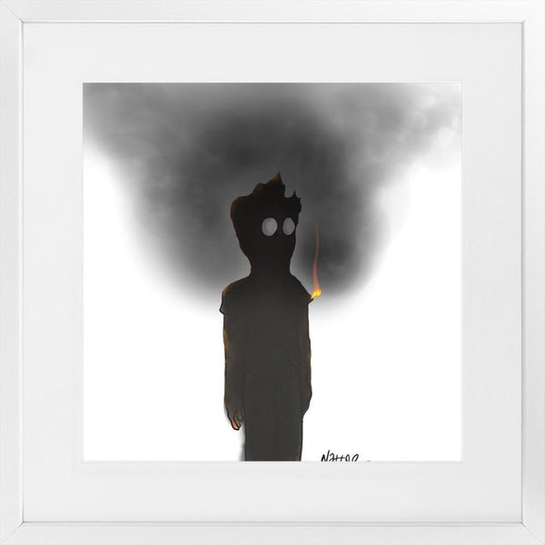 Burnout - 23x23 / White Frame - Limited Edition Print