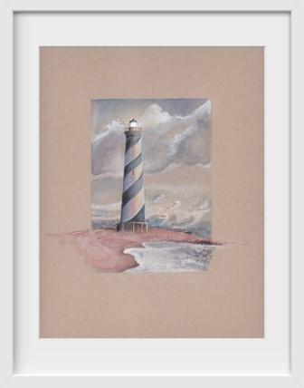 Cape Hatteras Lighthouse NC - 14x16 / White Frame / Buy - Limited Edition Print