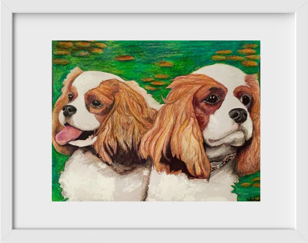 Cavalier King Charles Spaniel - 14x16 / White Frame / Buy - Limited Edition Print