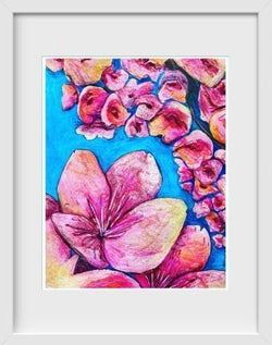 Cherry Blossoms - 14x16 / White Frame / Rent - Limited Edition Print