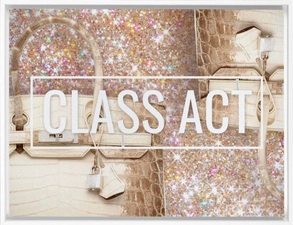 Class Act - White - Canvas