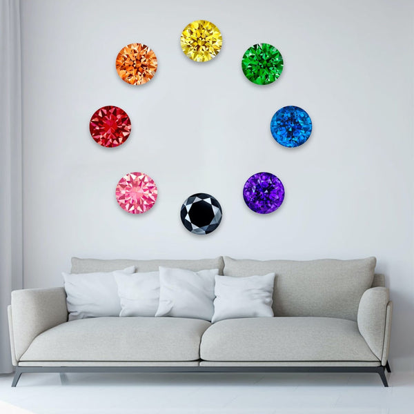 Colored Gems - 10 inch (set of 7)