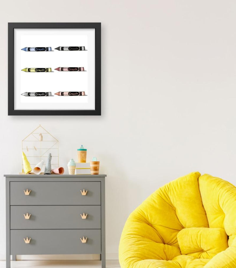 Crayons - Limited Edition Print
