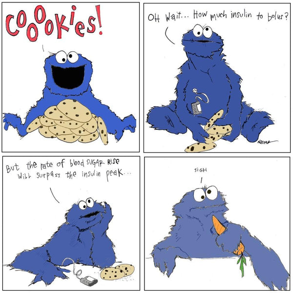 Diabetic Cookie Monster - Limited Edition Print