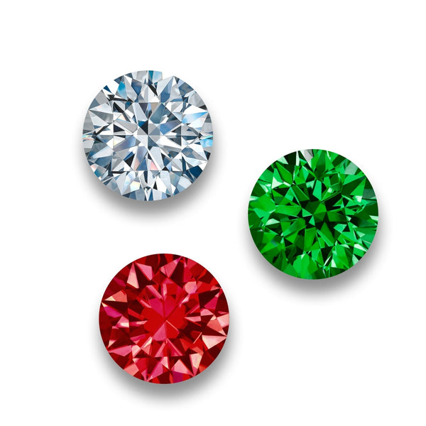 Diamond Ruby Emerald - 10 inch (set of 3)