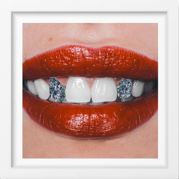 Diamond Smile - 14x14 / White Frame / Buy - Limited Edition Print