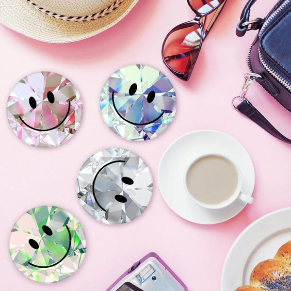 Diamond Stack Smilie Face Coasters