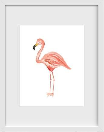 Flamingo - 22x26 / White Frame / Buy - Limited Edition Print