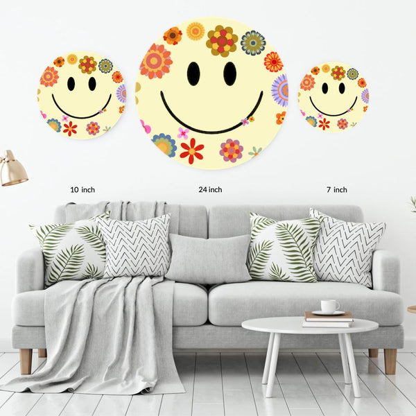 Flower Power Acrylic Mountable Smilie - Acrylic Mountable Shapes