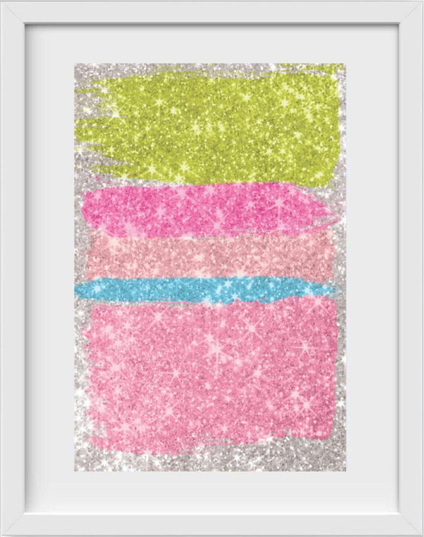 Glitch Glitter - 14x16 / White Frame / Buy - Limited Edition Print