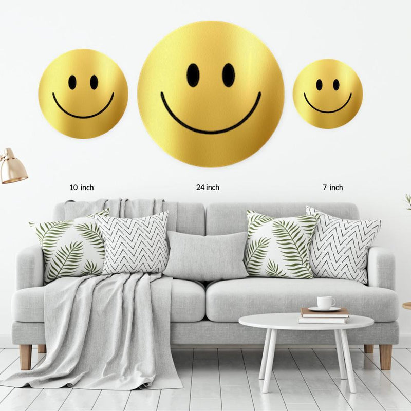 Gold Acrylic Mountable Smilie - Acrylic Mountable Shapes