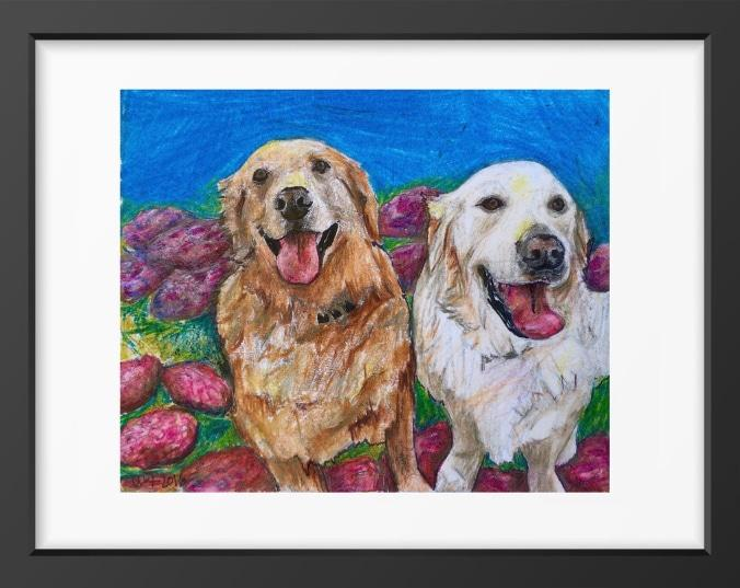 Goldens - 14x16 / Black Frame / Buy - Limited Edition Print