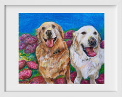 Goldens - 14x16 / White Frame / Buy - Limited Edition Print