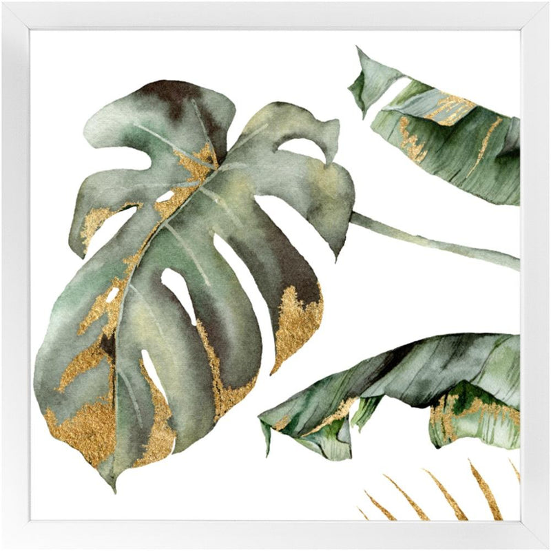 Greens and Golds - Build Your Gallery Wall - Square 16x16 inch - Framed Print