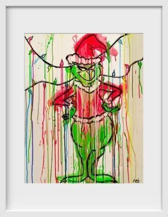 GRINCH - 14x16 / White Frame / Buy - Limited Edition Print