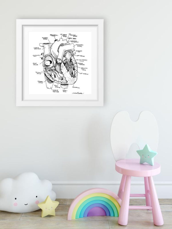 Heart Anatomy - Limited Edition Print
