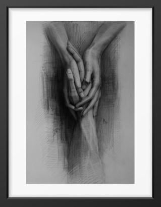 Holding on - 14x16 / Black Frame / Buy - Limited Edition Print